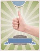 Success retro style poster template — Stock Photo