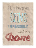 Everything is possible poster — Zdjęcie stockowe