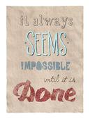 Wszystko jest możliwe, plakat — Zdjęcie stockowe
