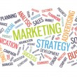 Stock Vector: Marketing business strategy word cloud