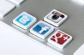 Social network keys — Stock Photo