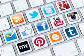 Social media buttons — Stock Photo