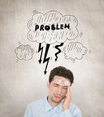 Stressed businessman concept — Stock Photo