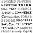 Hand drawn business words — Image vectorielle