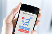 Mobile shopping — Stock Photo