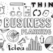 Business planning doodles elements — Imagen vectorial