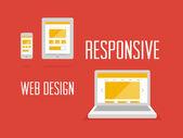 Responsive web design concept — Stock Vector