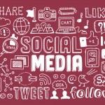 Social media doodles elements — Stock Vector #28258923