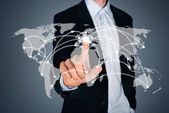 Global business connection concept — Stock Photo