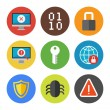 Internet security icons set — Stock Vector
