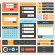 Flat UI design kit — Image vectorielle