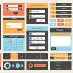 Flat UI design kit — Stock Vector