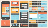 Platte ui design kit — Stockvector