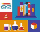 Illustrazione retrò chimica — Vettoriale Stock