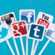 Stock Photo: Social media signs