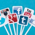 Social media signs — Stock Photo