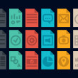 Document file types icons — Imagen vectorial