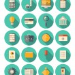 Finance and business modern icons set — Stock Vector