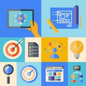 Website development illustration concept — Stock Vector