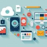 Data storage concept illustration — Stock Vector
