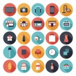 Stock Vector: Flat shopping icons set