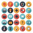 Game design flat icons set — Stock Vector