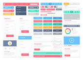 Platt user interface element set — Stockvektor