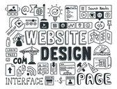 Website design doodle elements — Stock Vector