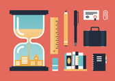 Business knowledge and achievement illustration — ストックベクタ