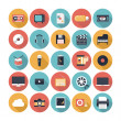 Multimedia flat icons set — Stok Vektör #35417893