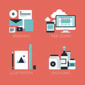 Flat design corporate style icons — Stockvector
