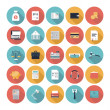 Finance and market flat icons set — Stock Vector