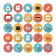 Finance and market flat icons set — Stock Vector #37746103