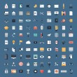 Business and finance flat icons big set — Vecteur #38761023