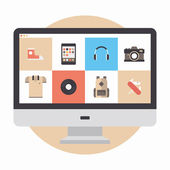 Online store flat illustration — Stock Vector