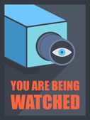 You are being watched — Stock Vector