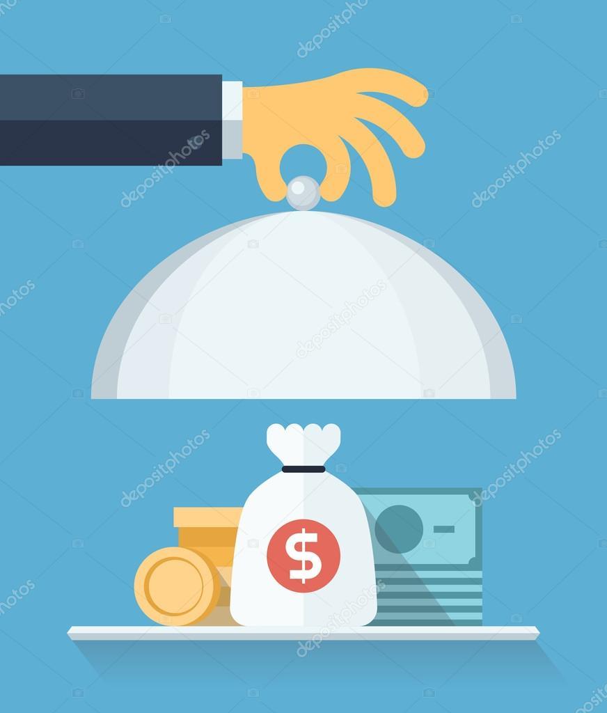 金融服务平台图概念 — 图库矢量图片 #41260853