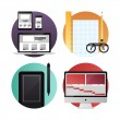 Web and video design flat icons — Stock Vector