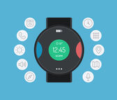 Smart watch design flat illustration concept — Stock Vector