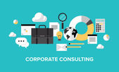 Corporate management and consulting concept — Vector de stock
