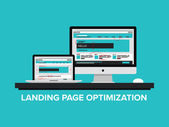 Landing page optimization concept — Stock Vector