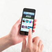 App Store on Apple iPhone 5S — Stock Photo