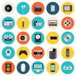 Multimedia and technology flat icons — Stock Vector #46322783