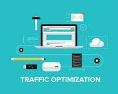 Website traffic optimization — Stock Vector
