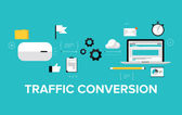 Traffic conversion  concept — Stock Vector