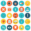 Medical and healthcare flat icons set — Stock Vector #47014457