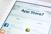 App Store features on Apple iPad Air — Stock Photo
