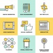 ������, ������: Digital marketing and advertising flat icons