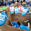 Shoes in boxes — Stock Photo