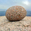 Single round stone — Stock Photo